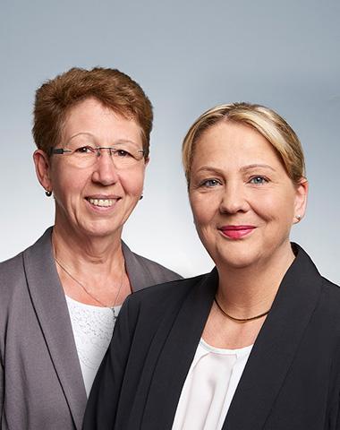 Foto Christa Koch und Carla Miltz